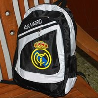 Wholesale Football fan Backpack Real Madrid Cristiano Ronaldo Gareth Bale Backpack School bag Real Madrid football club football backpack