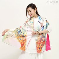 Wholesale In the autumn of emulation silk scarves to keep warm fashion plate buckles Retro cheongsam scarf shawl scarf
