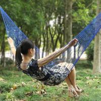 Wholesale Hot Selling Fashion bed hammocks sleeping hammock Hanging Sleeping Bed Garden outdoor camping hammock