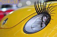 Wholesale Good quality Car Eye Lashes Eyelash D Car Sticker Eye lashes Light Eyebrow