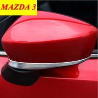 Wholesale 2014 MAZDA Rear View Mirror Cover Trim ABS Chrome Side Mirror Cover Trim Protective Decoration Car Accessories set