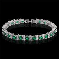 Wholesale 2016 New CZ Bracelets Beautifully Classic Palace Style Bracelet Crystal Wedding Bride Bangle Wristband Jewelry Bracelet Set Bracelet Row