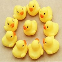 Wholesale Mini Bath Duck Sound Floating Rubber Ducks Squeeze sounding Dabbling Toy Rubber Duck Classic Toys Swiming Beach Gifts