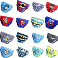 batman swim shorts - 12 Colors Summer New Arrival Lovely Cartoon superman batman Patterns Boys Swim Trunks Kids Swimwear shorts