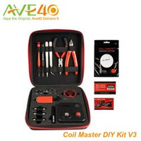 metal tools - Original New Coil Master DIY tool Kit V3 Coil master DIY Kit V3 For Rebuilding ecig RDA RBA Atomizer Vape Mod updated coil master DIY kit V2