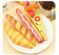 Wholesale Ballpoint Ball Point Pens for Writing Bread Pizza Hot Dog Shape Cute Stationery Supplies School Office Accessories