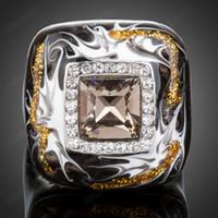 Wholesale Brand Cason K Gold Plated Rhinestone Jewelry Women Fashion Enamel Rings Multicolor Drop Shipping XR001