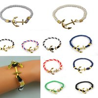 anchor chain hooks - 2016 Anchor bracelets Infinity bracelet Wrap Rope Charm Fish Hook With Paracord For Men And Women Miansai Style fashion jewelry wholesale18