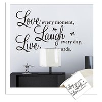 adhesive letter stickers - Love Live Laugh English Letters Words Wall Stickers for Kids Rooms Living Room Home Decor Wall Decor Mural Art