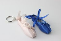 ballet shoes cartoon - MINI dancer ballet shoes keyring keychain Mother teacher Day small wedding gift advertising gift custom logo mini shoes furnish