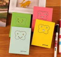 Wholesale Cartoon Faces Hard Copybook Fitted Notepad Three colors Sheets Size cm pieces