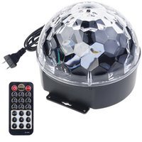 Wholesale US Plug Colors LED Crystal Magic Ball Lights Projector Remote Control Sound Active Stage Light Party Disco Rotating Colorful Light