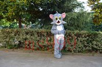 adult dance apparel - Tom Cat jerry cartoon mascot costume adult rat Christmas carnival costumes dance apparel giant Tom