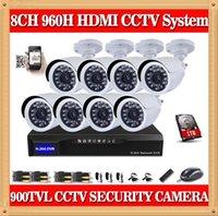 al por mayor la cámara de cctv sistema completo-CIA- DAH 8CH completo 960H DVR CCTV 8CH sistema de cámaras de seguridad 900TVL día al aire libre IR Kit de cámara de vigilancia de vídeo del sistema 1 TB HDD
