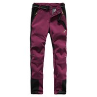 Wholesale Spring thin section Womens Monolayer Sports Pants Jujube red Casual trousers WaterProof Climbing Outdoor Pants Fleece inside