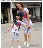 Wholesale 2016 Matching Mother Daughter Clothes Family Look Girl and Mother Mommy and Me clothes Parent child Outfit Ma e Filha Set