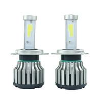 Wholesale 40W LM car h4 led bulb cob cree led chips car light H4 high low beam auto headlight xenon front fog light source V