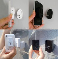 Wholesale 50pcs mobile phone security stand dummy phone anti theft display holder black white square oval retractable pull wire box for retail