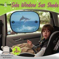 baby car sunshade - Big Ant Car Sun Shade for Side Window Dolphin Design Baby Car Sunshade Protector Sunlight Glare Protection Pack