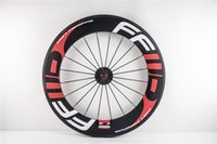 Wholesale 700C full carbon mm carbon bike clincher rear fixed gear wheel k glassy with white ffwd logo for sale