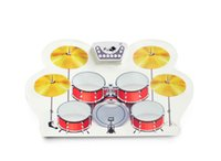 Wholesale Roll Up Drum Kit MD1008 Material Non toxic and harmless environmental protection silicone waterproof Color red and yellow or OEM col