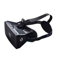 Wholesale RITECH II Head Mount Plastic Version VR Virtual Reality Glasses magnet Control Google Cardboard for D Movies Games phone