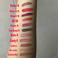 Wholesale DHL New Colors Kylie Lip Gloss by Kylie Jenner Matte Lipstick Liquid Kit Metal So Cute Literally Like Exposed KOKO K CANDY K POSIE K