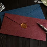 Wholesale pieces Western Vintage Solid Color Blank Envelope for Business Invitation Paper Gift Envelopes