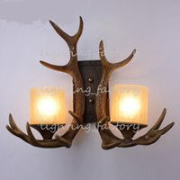 antler wall lights - Antique Antlers Rural Wall Lamp Art Design Loft Style Corridor Hallway Creative Lights For Bar Club