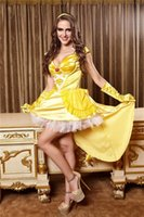 belle outfit - Princess Belle Fancy Dress Beauty Costume Fairy Tale Sexy Hen Party Adult Outfit