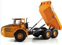 RC Wholesale-camión volquete 1:10 vehículos de ingeniería camión cargado de arena coche con luz LED y el juguete para los niños el funcionamiento de voz regalo