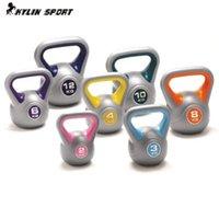 Wholesale 2kg price Pot dumbbell professional quality multicolour dip kettlebell barbell high end fitness kettlebells