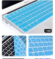 Wholesale Laptop Soft Silicone Colorful KeyBoard Case Protector Cover Skin For MacBook Pro Air Retina Waterproof Dustproof with retail box