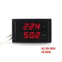 AC ac voltage measurement - AC Dual Measurement of AC Volt V AC Hertz Hz Voltage Frequency Meter with Red Digital LED Display