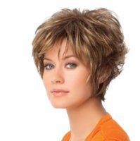 african american highlights - 1PC African American Short Hairstyles Wigs Wavy Synthetic Highlighted Kanekalon Fiber U Part Wig Short Wigs for Women