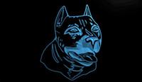 american bull terrier - LS1082 b American Pit bull Dog Terrier Neon Light Sign jpg