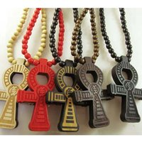 Wholesale ANKH Egyptian Power of Life Good Wood Hip Hop Necklace