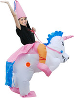 air ride - HOT Adult Halloween Costumes Inflatable Unicorn mascot Costumes Ride on Sky Horse Air Blowing Up Clothes Funny Costumes