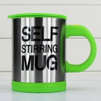 best friend mugs - Best Promotion Stainless Steel Electric Lazy Self Stirring Mug Automatic Mixing Tea Milk Coffee Cup Best Gift For Friends ml