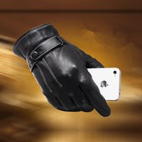 Wholesale men s phone screen touch glove winter autumn warmer glove fashion riding Use warm soft and fluffy inside suitable for autumn In the winter