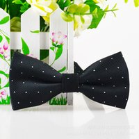 Wholesale 15 Colors Children Bow Tie Baby Boy Kid Accessories Solid Color Tuxedo Neck Dots Ties Flower Girl Accessory