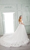 Adults bella ball gown - BELLA BRIDE Wedding Dresses Ball Gown Empire Perspective Strapless Train Sexy White Wedding dresses For Bridal