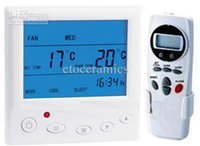 Wholesale With remote control Programmable Air conditioning Room Thermostat cooling and heating fan coil controler