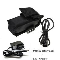 Wholesale mAh V Battery Pack for Bicyle Bike Headlamp Light charger