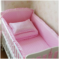 Wholesale Baby crib bedding set cotton crib bumper included sheets baby bedding set