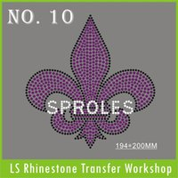 Wholesale Hot sale cross fleur SPROLES purple clear black Hot fix rhinestone transfer free shippng cost