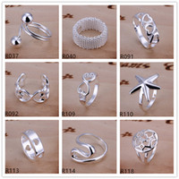 Wholesale Brand new high grade sterling silver ring pieces mixed style silver ring GTR3 factory direct sale
