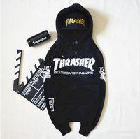 Wholesale 2016 men s sweatshirt harajuku hip hop sweatshirts men women skateboard thrasher hoodies men sudaderas hombre moleton masculino