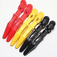 Wholesale 5PCS Hair Clip Aluminum Plastic Professional Hairdressing Cutting Salon Styling Tools Section Hair Clips