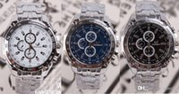 round magnet - new Men Watch Three Eyes Six Pin Fashion Business Stainless Watchband Quartz Movement Anti Shock Anti Magnet Life Waterproof Wristwatch